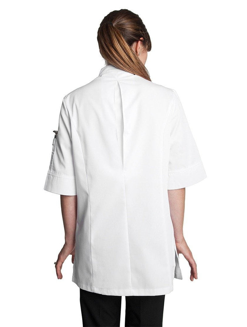 Verana Womens Chef Jacket de Bragard White Back
