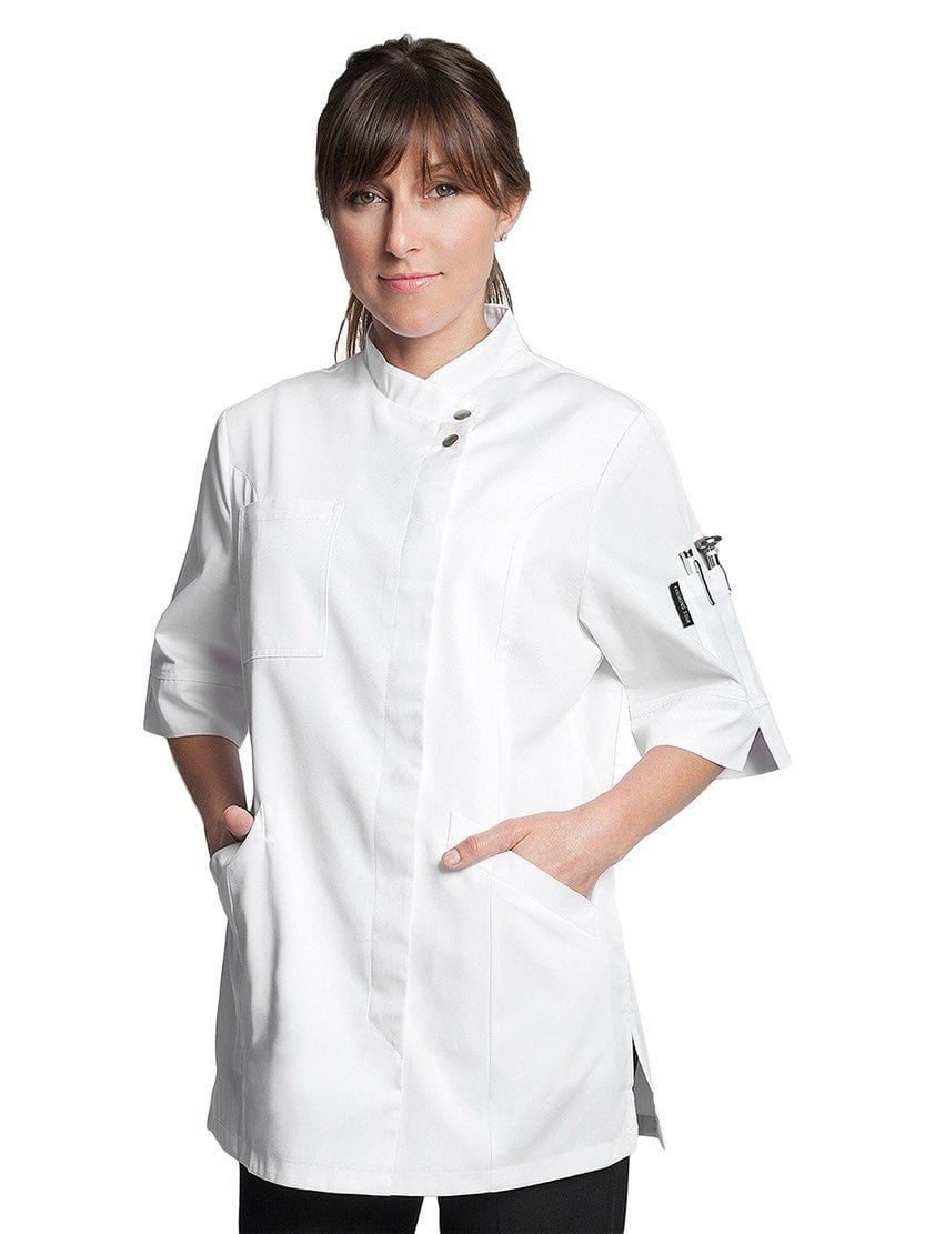 Verana Womens Chef Jacket by Bragard White Front Profile
