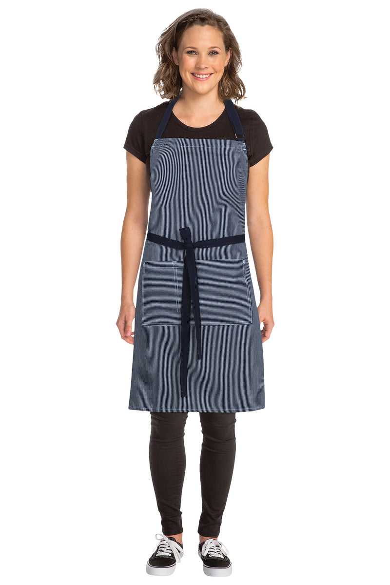 Chef Works Portland Denim Bib Apron - Front