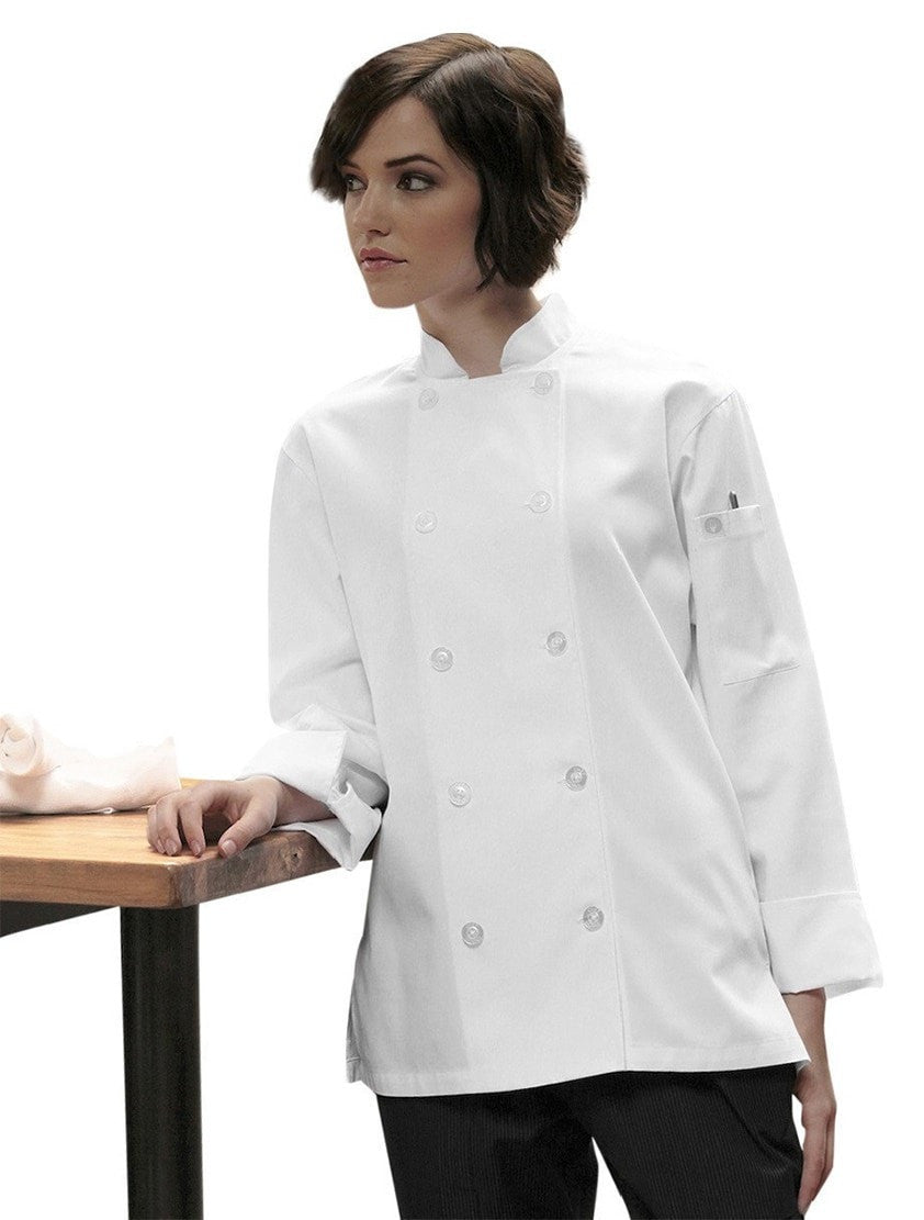 Women's Le Mans Basic Chef Coat by Chef Works Front