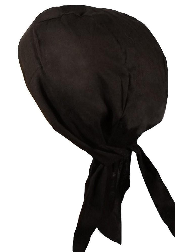 Deluxe Chef Head Wrap Black Profile