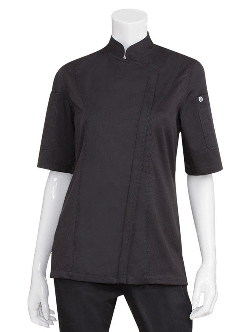 Chef Works Women's Springfield Chef Coat Black