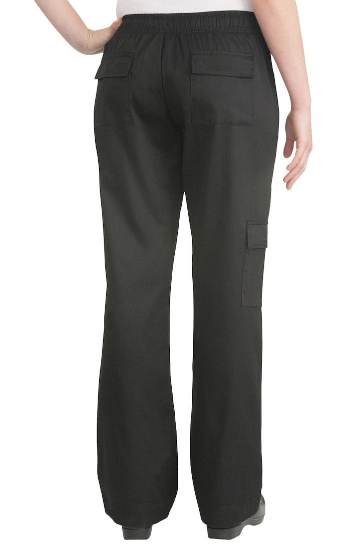 Cargo Women's Chef Pants by Chef Works Black Back