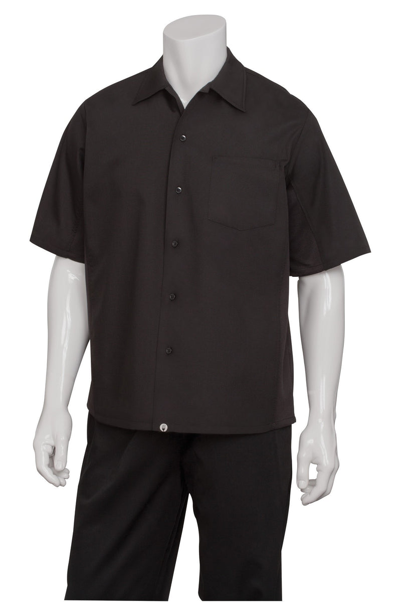Cool Vent Cook Shirt by Chef Works Black Front
