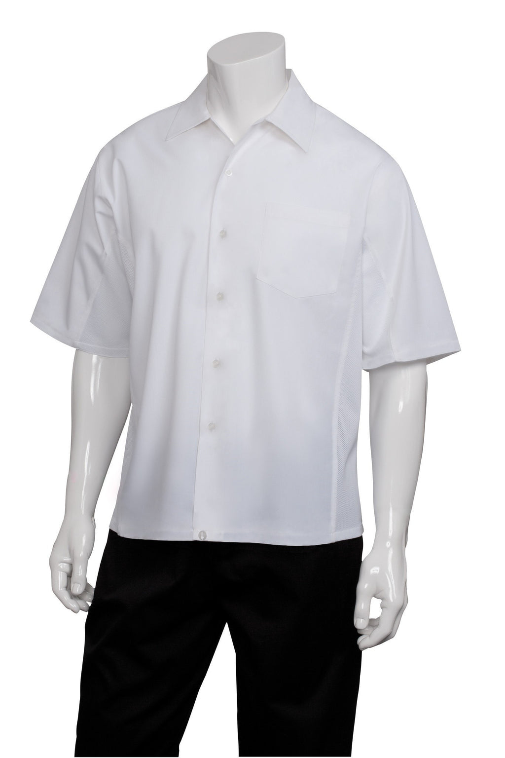 Chemise Cool Vent Cook par Chef Works White Front