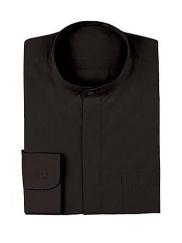 Chef Works Banded-Collar Shirt Black Top