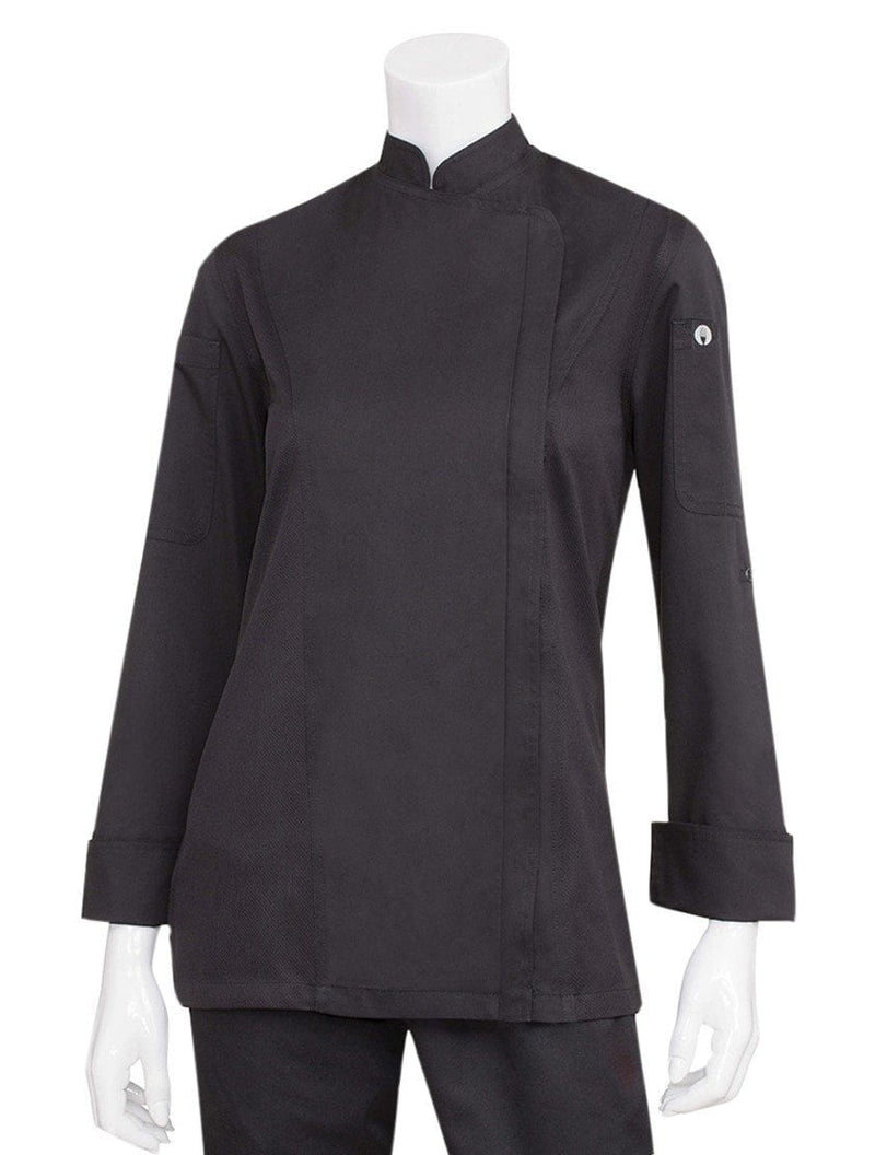 Chef Works Women's Hartford Chef Coat Black
