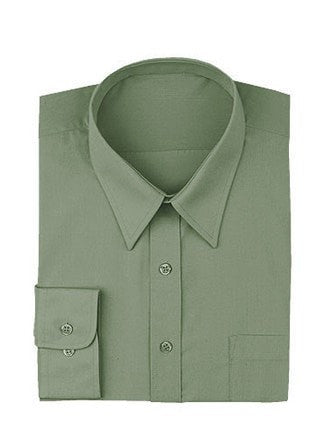 Chef Works Olive Basic Dress Shirt