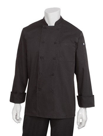 Chef Works Calgary Cool Vent Basic Chef Coat Black