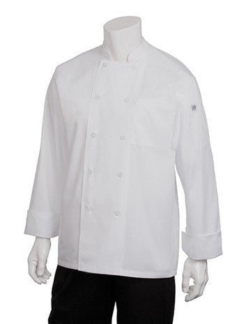 Chef Works Calgary Cool Vent Basic Chef Coat White