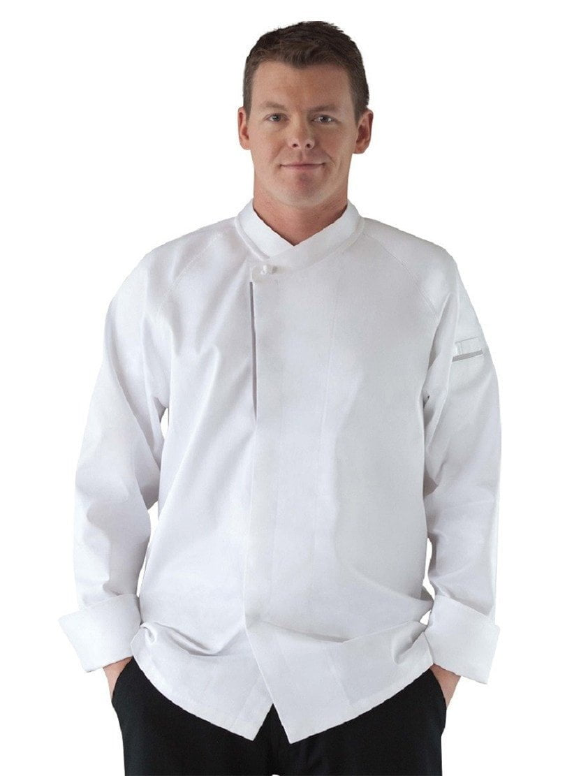 Trieste Premium Cotton Chef Coat by Chef Works White Front Profile