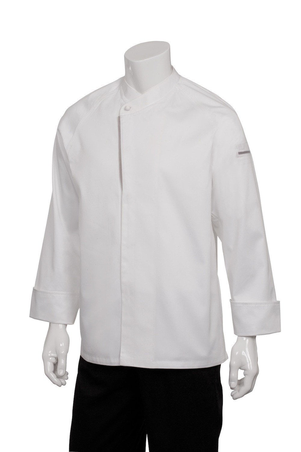 Trieste Premium Cotton Chef Coat by Chef Works White Front