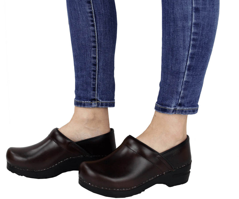 Sanita Pro. Cabrio Women's Brown Chef Clog -  life style view
