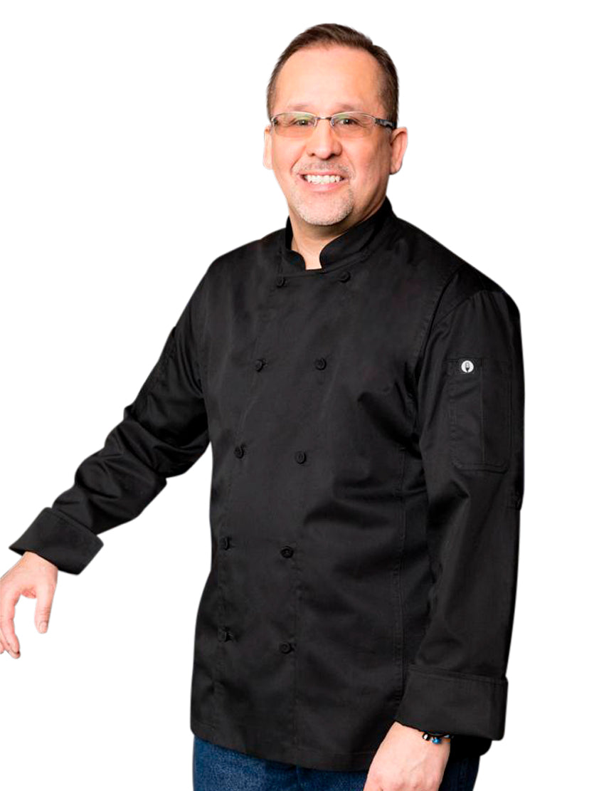 Bowden Cool Vent Roll Up Sleeves Chef Coat- Side
