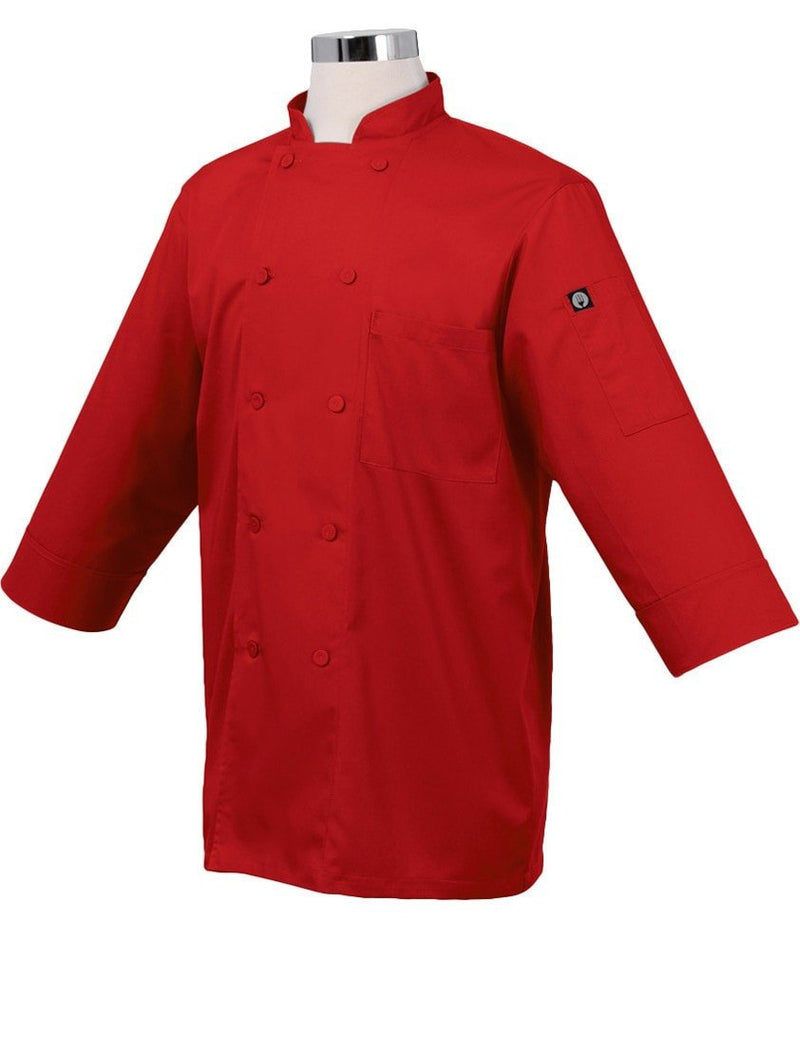 Basic 3/4 Sleeve Chef Coat Red