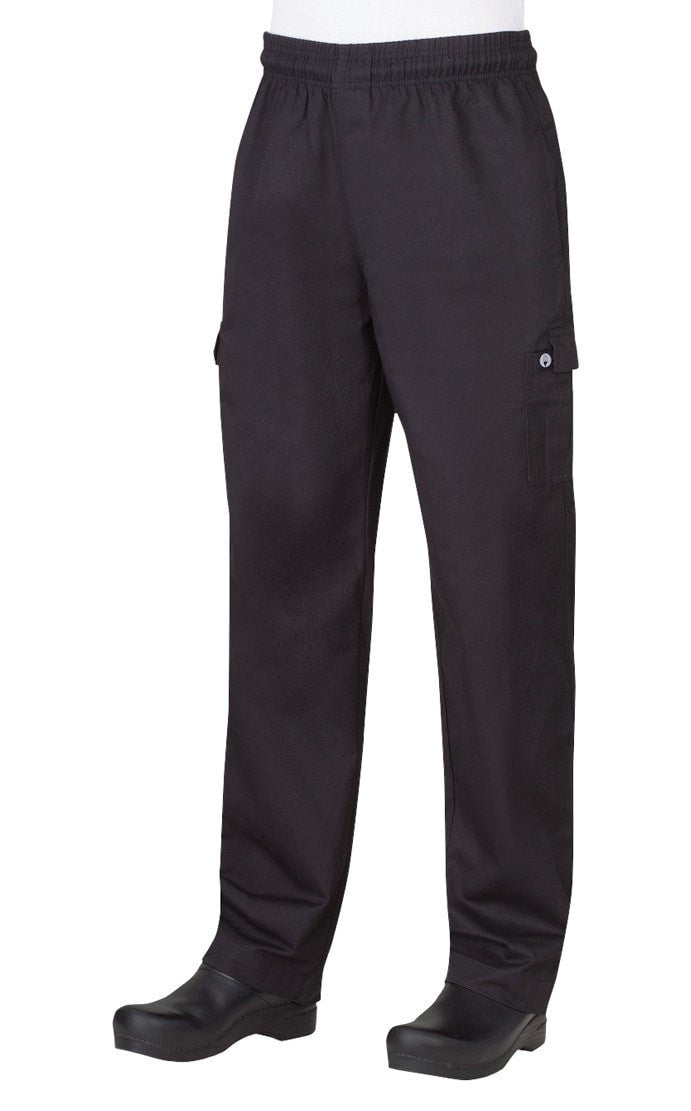 Men's Cargo Pants by Chef Works Black Front