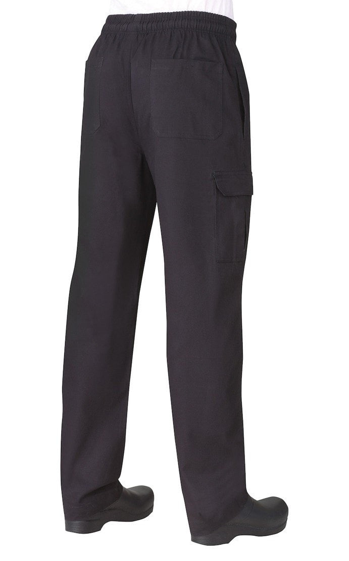 Pantalon cargo pour homme par Chef Works Black Back
