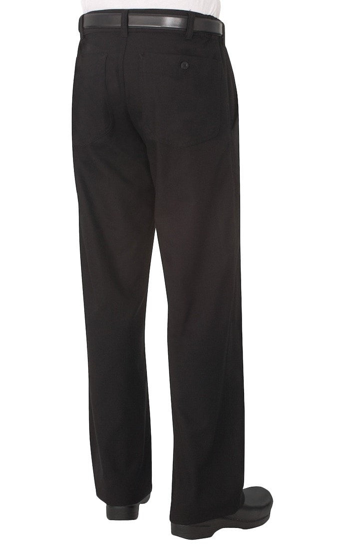 Professional Series Mens Black Chef Pants by Chef Works Black Back