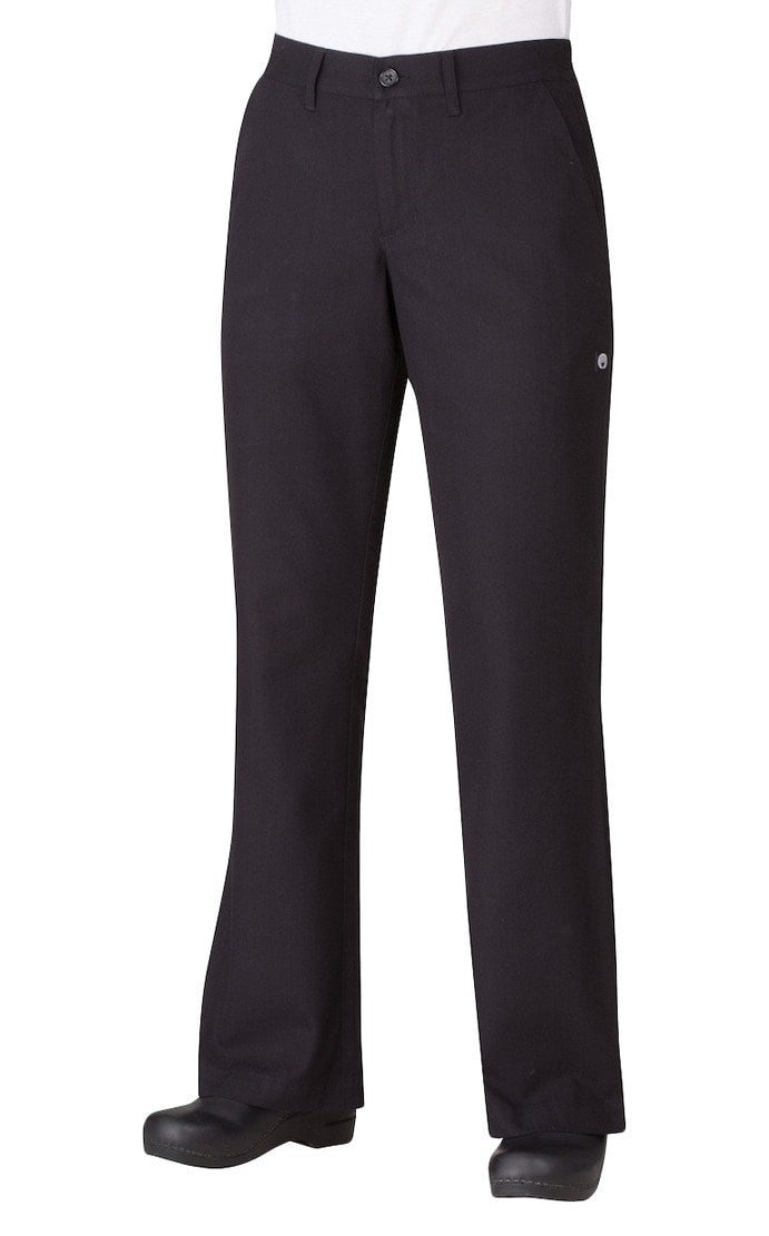 Women's Professional Series Pants by Chef Works Black Front
