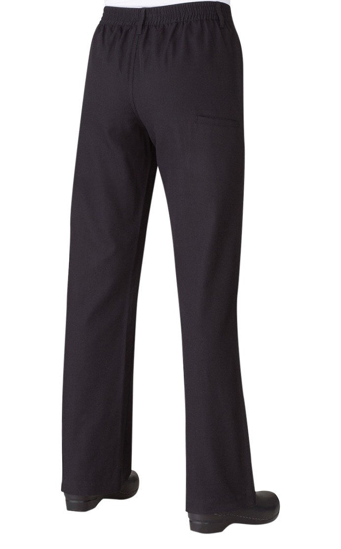 Women's Professional Series Pants by Chef Works Black Back