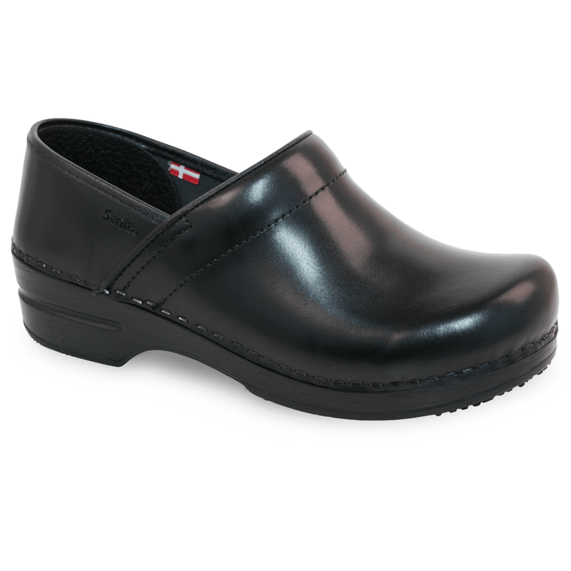 Sanita Addison Women's Black Chef Clog   side vie