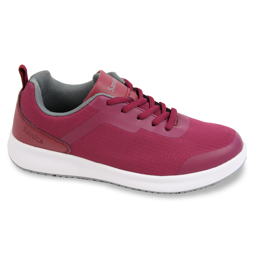Sanita Concave Women's Fuchsia Chef Safety Sneaker - side view