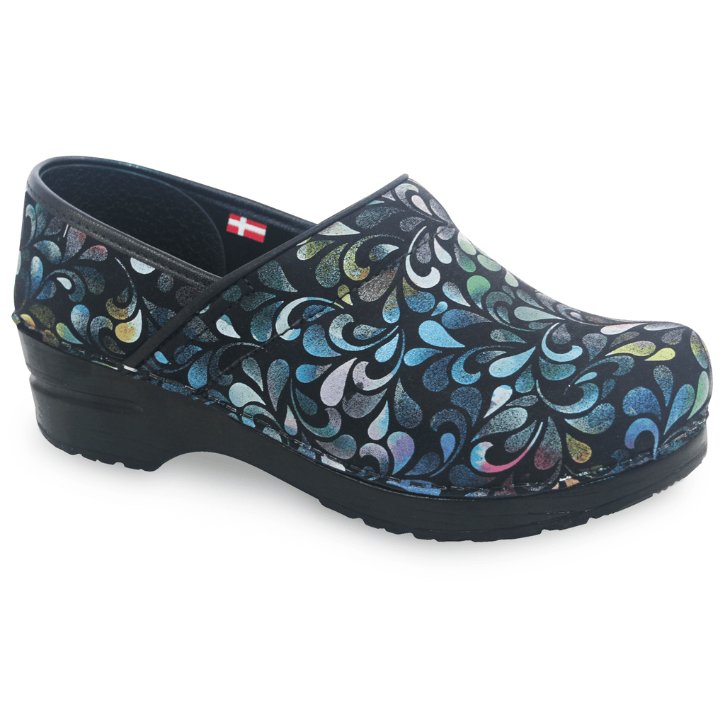 Sanita Plume Women's Printed Leather Multi Chef Clog - SIDE VIEW