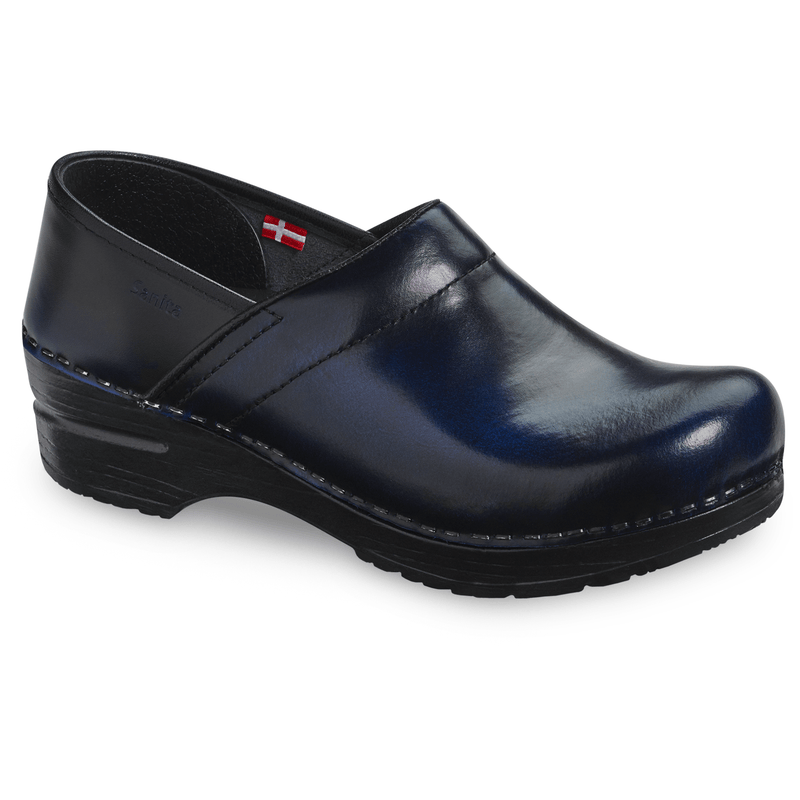 Sanita Pro. Cabrio Women's Blue Chef Clog - side view