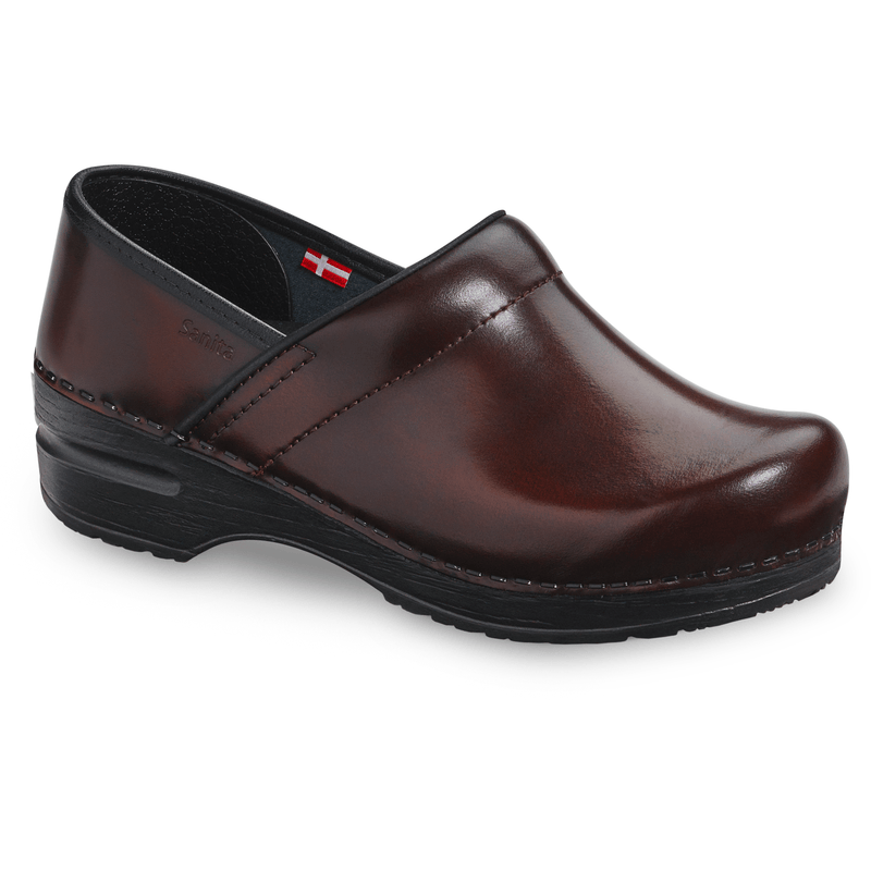 Sanita Pro. Cabrio Women's Brown Chef Clog - side view