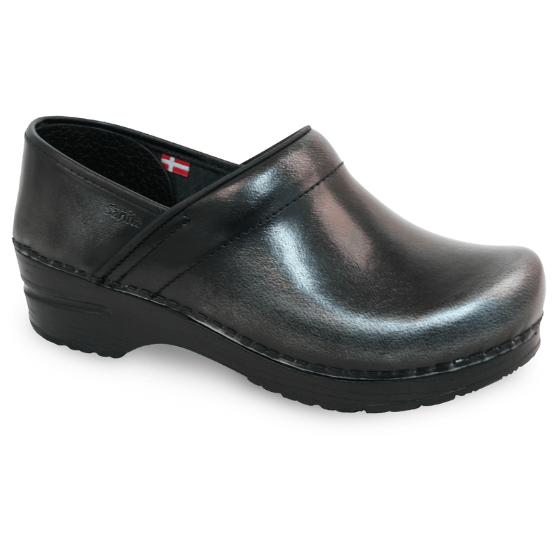 Sanita Pro. Cabrio Women's Grey Chef Clog - side view