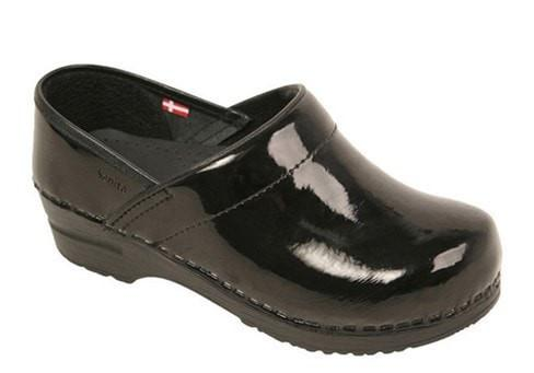 Sanita Women's Professional Patent Medical Clog Black