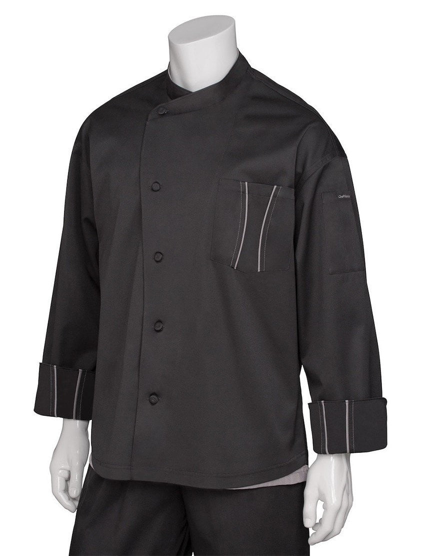 Manteau de chef Amalfi Signature Series par Chef Works Black Front