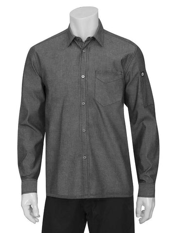 Chef Works Detroit Long Sleeve Shirt Grey