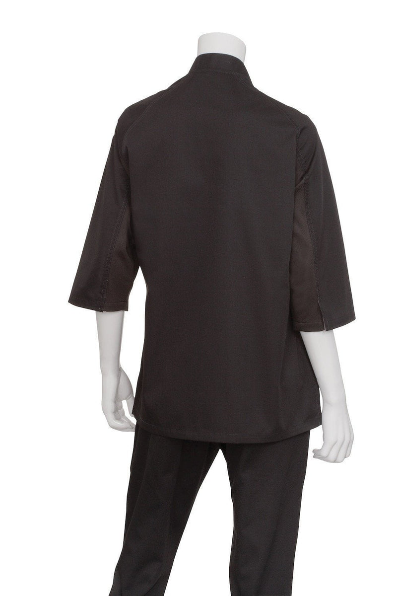 V-series Verona Women's Chef Coat by Chef Works Black Back