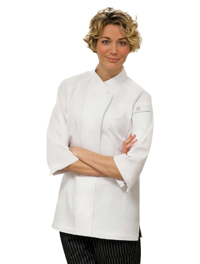 V-series Verona Women's Chef Coat by Chef Works White Front Profile