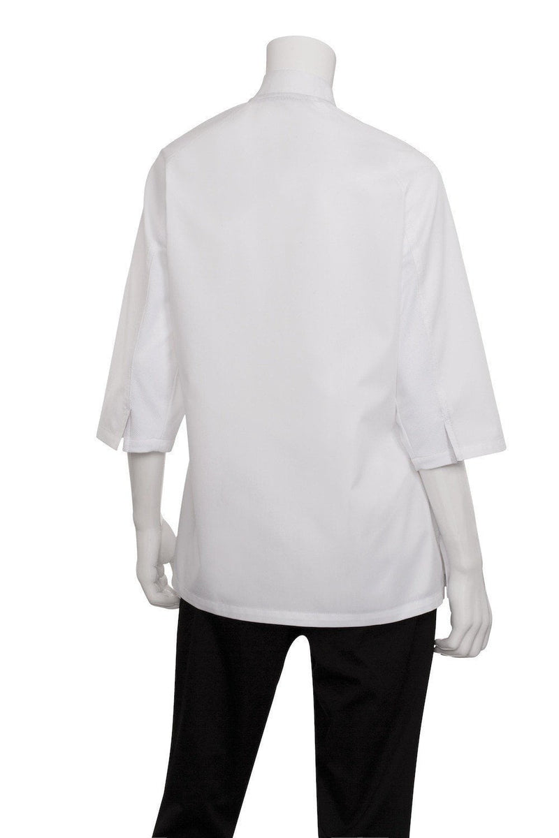 V-series Verona Women's Chef Coat by Chef Works White Back