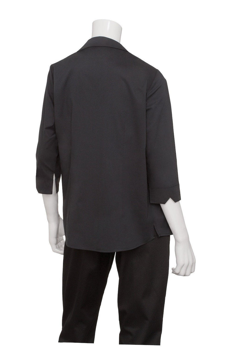 Finesse Women's 3/4-Sleeve Fitted Shirt by Chef Works Black Back