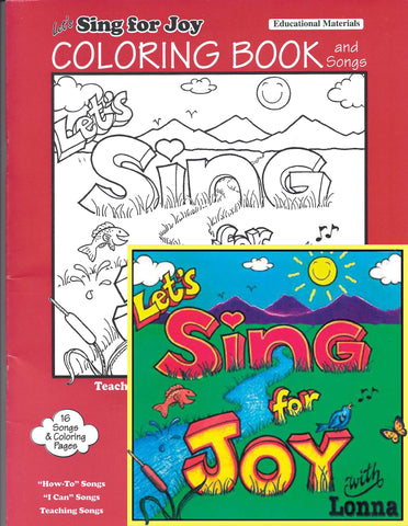 Sing with Lonna — Sing for Joy - CD & Coloring Book
