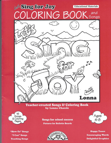 Sing with Lonna — Sing for Joy - Coloring Book