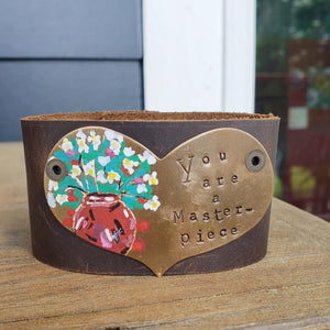 You are a Masterpiece leather cuff (includes Masterpiece letter and card)