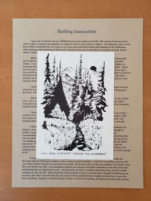 Pathway through the wilderness (BATTLING INSECURITY) - letter and card only