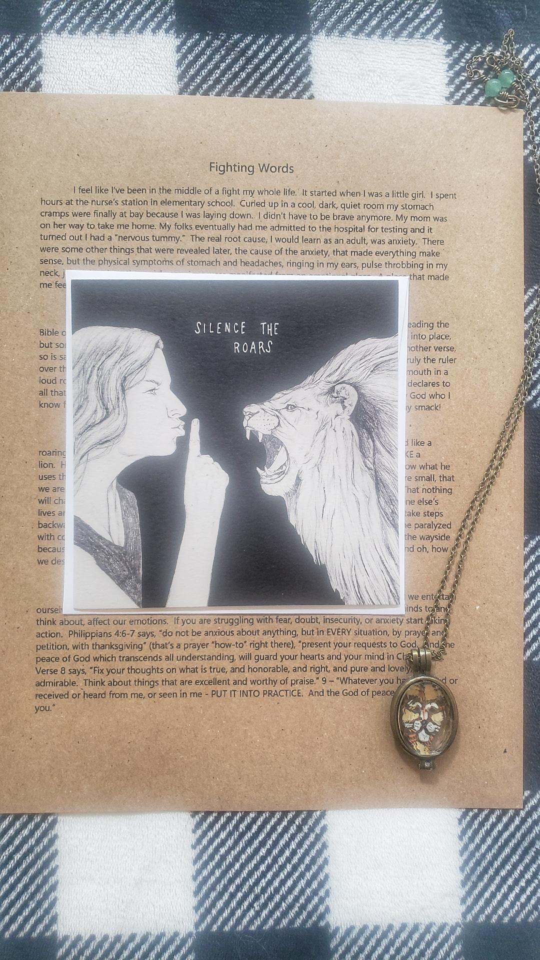Lion Locket (includes Fighting Words letter and card)