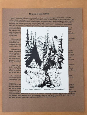 Pathway through the wilderness (My story of SEXUAL ABUSE) - *letter and card only