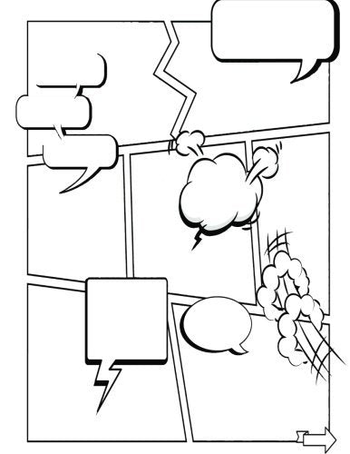 Create Your Own Comic Book: Blank square blocks for creating your story! 150 Pages - 8.5 x 11