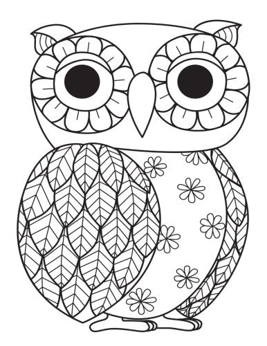 Owl Zentangle Daily Planner Journal: 365 + Days Bullet Journaling Blank Notebook with sections for date, time, notes, lists & doodles! 8.5 x 11 size, 380 pages