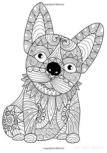 Dot Grid Journal: Diary Notebook French Bulldog: 7 x 10 size 100 pages. Color the Cover!