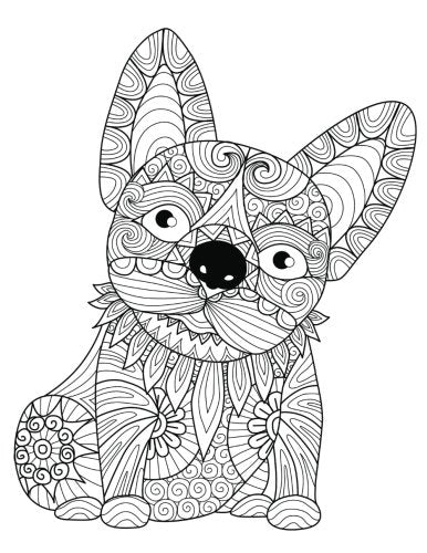 "Daily Planner Journal: 365 + Days Bullet Journaling Blank Notebook with sections for date, time, notes, lists & doodles! 8.5 x 11 size, 380 pages, Zentangle French ""Frenchie"" Bulldog Cover"