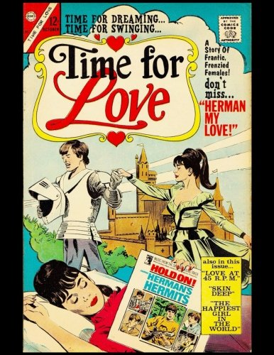 Time For Dreaming, Time For Swinging, Time For Love: Vintage Comic Book Cover On A Daily Planner Journal ~ 365 + Days Bullet Journaling Blank Notebook ... x 11 size, 380 pages + Blank Calendar + Index
