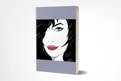 """Fiona"" Cover Girl Pop Art Style Journal - 120 Lined Pages"