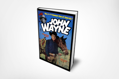 John Wayne Vintage Comic Cover Planner ~ 200 Numbered Pages, Index & Blank Calendars